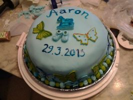 Godsons namegiving cake by Virvatulia