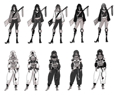 Character Design and Value Studies by ArtByEdyn