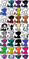 32 ADORABLE adopties! ^^ :D by TLartist