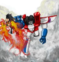 Sunspot vs Starscream by Ridel