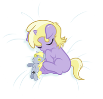 Sleeping Dinky with Derpy Doll by punzil504