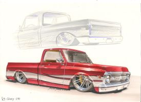 Bagged '69 Chevy C10 by DominikScherrer