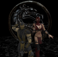 Pick your team: Scorpion and Skarlet by Theonidan