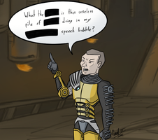 Zaeed's speech bubble by fakefrogs