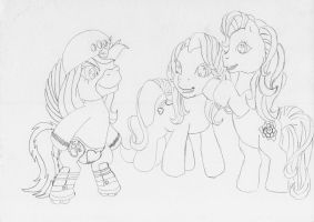 MLP G3 - Pencil Magic on roller blades (sketch) by MortenEng21