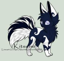 Kitsune #2 Adoptable-Deep Ocean Themed - 15 Points by Kurai-Uma-Adoptables
