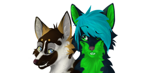 Tash and Aleu connected Icons by x0Tashia0x