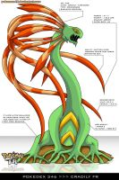 Pokedex 346 - Cradily FR by Pokemon-FR