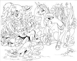 My Little Pony Work in Progress by andypriceart
