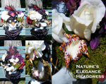 Nature's Elegance Headdress Collage by Arexandria