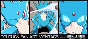 Golduck Fan Art Montage by TheNotoriousGAB