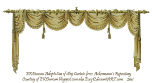1819 Swag Curtain - Gold by EveyD