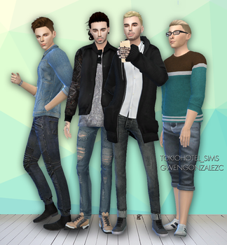 Tokio Hotel Selfie Sims 4 by GwenGC