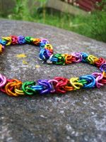 Rainbow Byzantine Choker by Melon-love