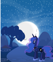 Princess Luna - Night ride by abydos91