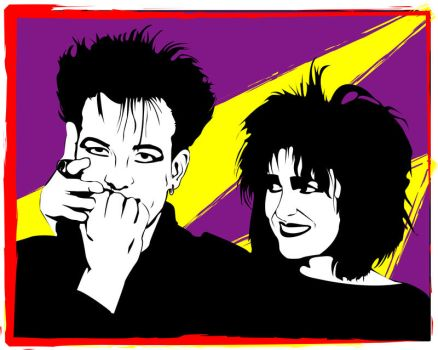 Siouxsie and Bob by misterunlucky