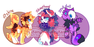 [CLOSED]:Halloween Monsters Auction Batch by Kit-katsu