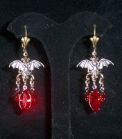 Sanguine Bat Earrings by lilibat
