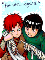 Lee vs Gaara - rivalry by nocturnalMoTH