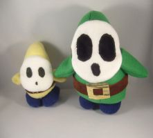 Large Green Shy Guy plush by pandari