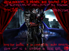 Optimus Prime and Megatron Late Night by Fera-Feueragian