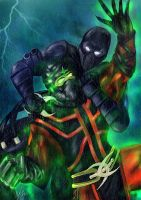 Ermac vs. Noob by Blackknight1987