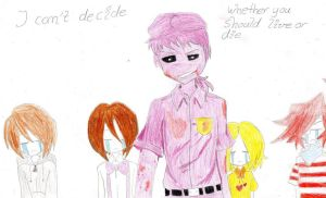 Purple guy with Children by Richard-the-Evil