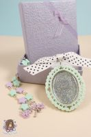 Pastel Glitter Necklace With Gift Box by PeppermintPuff