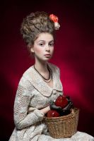 Young Lady with Apples by ludmilayilmaz