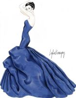 That Blue Dress by lydiakornegay