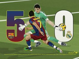 Barcelona 5 vs 0 Real Madrid by akyanyme