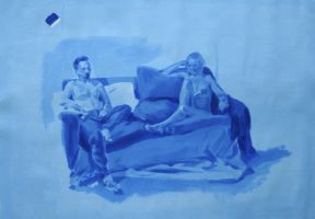 Tonal Study in French Ultramarine by animusamicus
