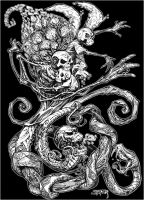 Skeletons, Snakes and Spirals by mechaniac