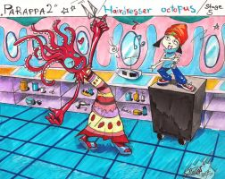 Hairdresser Octopus Simple Simple by AlienNocsastarino