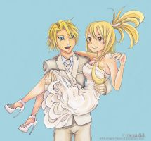 Link and Lucy by Dragon-flame13