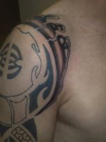 alien tail tattoo shaded 2 by campfens