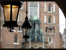 Lamps and old church by mysterious-one