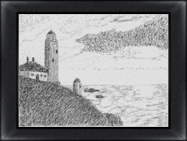 Lighthouse in Pencil by VATalbot