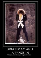 Brian May and a Penguin by mamacros