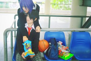 KnB_Murasakibara and Himuro by Dan-Gyokuei