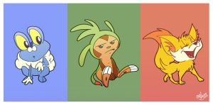 X and Y Starters by Chansey123