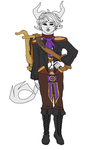 Euphonous~ Tiefling Bard by nubblebubble123