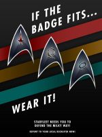 STO Delta Recruit Poster - If the Badge Fits by thomasthecat