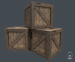 Stack Of Crates by Raviyne