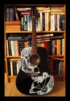 Almost a Sharpie Guitar by AtarAtis
