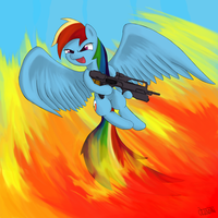 Rainbow Dash is a Badass by Ultimiant