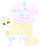 Frostine OC Reference 2013 by cottoncritter