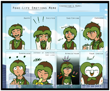 Poke Life-Emotions Meme Quill by Painted94