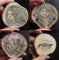 Woodland Brooches by DarlingDeerest