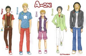 A-ON! project 001 design character by Yousachi
